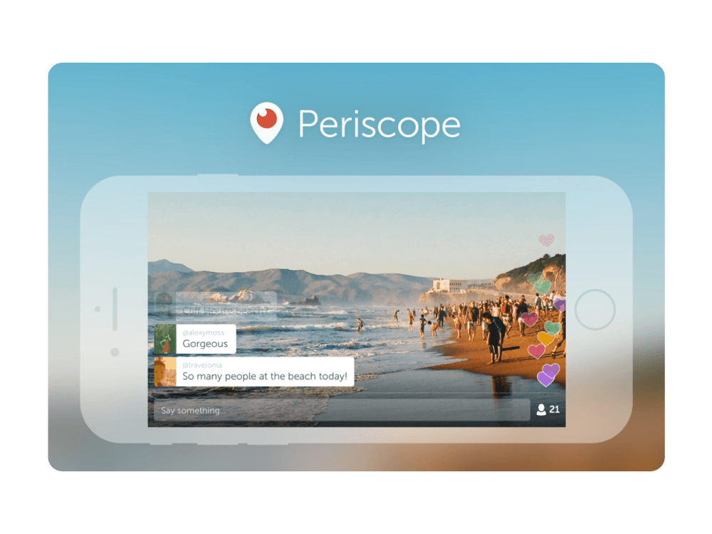 Periscope live streaming services